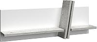 Полка Сакура Best №5.3 (бетон/белый глянец) -