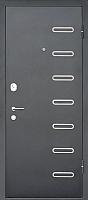 Входная дверь МеталЮр M29 Черный бархат/дуб французский сильвер (86x205, правая) -