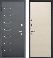 Входная дверь МеталЮр M29 Черный бархат/дуб французский капучино (86x205, левая) -