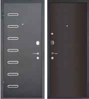 Входная дверь МеталЮр M29 Черный бархат/дуб французский темный (86x205, левая) -