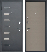 Входная дверь МеталЮр M29 Черный бархат/дуб французский серый (86x205, левая) -