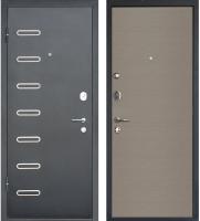 Входная дверь МеталЮр M29 Черный бархат/дуб французский серый (96x205, левая) -