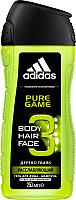 Гель для душа Adidas Body-Hair-Face Pure Game для мужчин (250мл) -