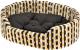 Лежанка для животных Ferplast Dandy 45 Cotone / 82941083 (горох на зебре) -