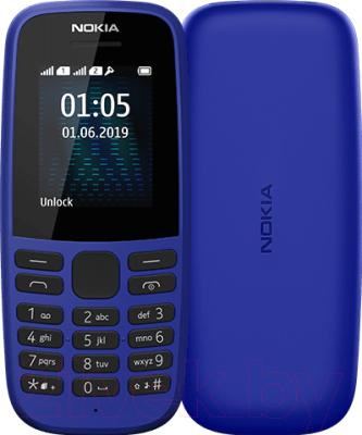 Мобильный телефон Nokia 105 Dual 2019 / TA-1174 (синий)