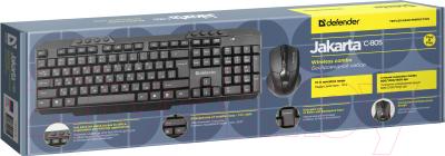 Клавиатура+мышь Defender Jakarta C-805 RU / 45805 (черный)
