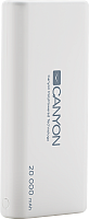 Портативное зарядное устройство Canyon CNS-CPBP20W (белый) -