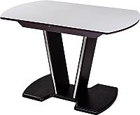 Обеденный стол Домотека Румба ПО 80x120-157x75 (белый/венге/03) -