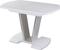 Обеденный стол Домотека Румба ПО 80x120-157x75 (белый/белый/03) -