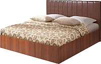 Полуторная кровать Мебель-Парк Аврора 1 200x120 (темный) -