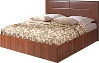 Полуторная кровать Мебель-Парк Аврора 4 200x140 (темный) -