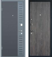 Входная дверь МеталЮр М28 Черный бархат/серый металлик/дуб шале графит (86x205, левая) -