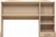 Надстройка для стола Ижмебель Квест 11 (дуб сонома светлый) -