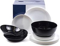 Набор тарелок Luminarc Diwali Black White P4360 -