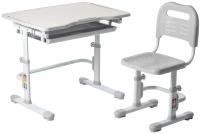 Парта+стул FunDesk Vivo (серый) -