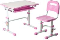 Парта+стул FunDesk Vivo (розовый) -