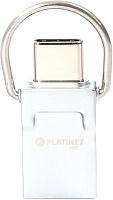 Usb flash накопитель Platinet Pendrive USB 2.0 16GB + Type-C Adapter / PMFC16 -
