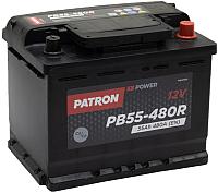 Автомобильный аккумулятор Patron Power PB55-480R (55 А/ч) -