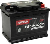 Автомобильный аккумулятор Patron Power PB60-500R (60 А/ч) -