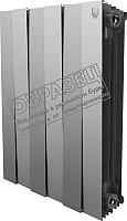 Радиатор биметаллический Royal Thermo PianoForte 500 Silver Satin (10 секций) -