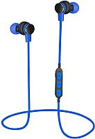 Беспроводные наушники Platinet PM1061BL + microSD (синий) -