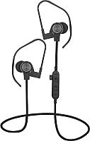 Беспроводные наушники Platinet Sport PM1062G + microSD (черный/серый) -