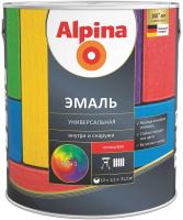 Эмаль Alpina Универсальная. База 1 (2.5л, шелковисто-матовый) -