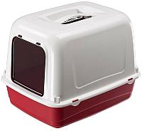 Туалет-лоток Ferplast Clear Cat 10 / 72064099 (красный) -