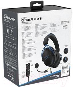 Наушники-гарнитура HyperX Cloud Alpha S / HX-HSCAS-BL/WW