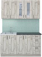 Готовая кухня Интерлиния Мила Хольц 15 (дуб серый) -