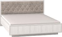 Двуспальная кровать Глазов Paola 306 Люкс с ПМ 180x200 (ясень анкор светлый/патина Furor Brown Grey) -