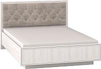 Полуторная кровать Глазов Paola 308 Люкс с ПМ 140x200 (ясень анкор светлый/патина Furor Brown Grey) -