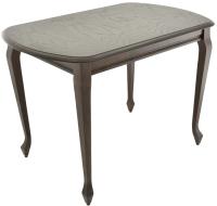 Обеденный стол Аврора Прага 120x80 (тон 7/орех темный) -