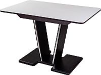 Обеденный стол Домотека Румба ПР 80x120-157x75 (белый/венге/03) -