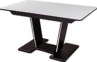 Обеденный стол Домотека Румба ПР-2 85x140-190x75 (белый/венге/03) -