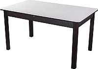 Обеденный стол Домотека Румба ПР-2 85x140-190x75 (белый/венге/04) -