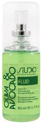 Флюид для волос Kapous Studio Professional с масл. авокадо и оливы д/секущихся кончиков (80мл)