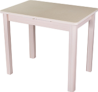 Обеденный стол Домотека Румба ПР-М 60x88-125x75 (бежевый/молочный дуб/04) -