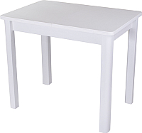 Обеденный стол Домотека Румба ПР-М 60x88-125x75 (белый/белый/04) -