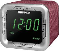 Радиочасы Telefunken TF-1505 (бордовый) -