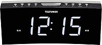 Радиочасы Telefunken TF-1569U (черный/белый) -