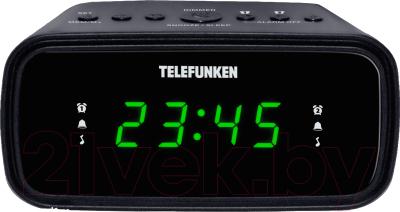 Радиочасы Telefunken TF-1588 (черный/зеленый)