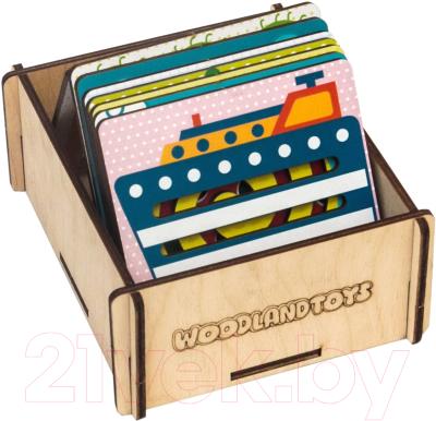 Развивающая игра WoodLand Toys Линейки-трафареты. Солнечная полянка / 120201