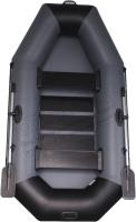 Надувная лодка Vivax К250 c полом-книгой (без киля, серый/черный) -
