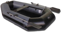 Надувная лодка Vivax К220 с полом-книгой (без киля, серый/черный) -