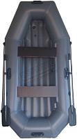 Надувная лодка Vivax К250 НДНД (без киля, серый/черный) -