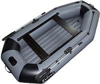 Надувная лодка Vivax К300Т НДНД (без киля, серый/черный) -