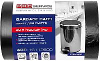 Пакеты для мусора PROservice 20л 7мкм (100шт, черный) -