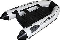Надувная лодка Vivax Т300Р НДНД (с килем, серый/черный) -