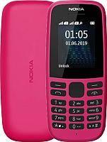Мобильный телефон Nokia 105 Dual 2019 / TA-1174 (розовый) -